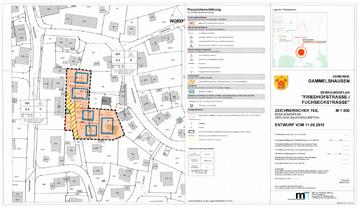 Bebauungsplan Grundstück in der Friedhofstrasse/Fuchseckstrasse in 73108 Gammelshausen