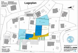 Lageplan Grundstück in der Friedhofstrasse/Fuchseckstrasse in 73108 Gammelshausen